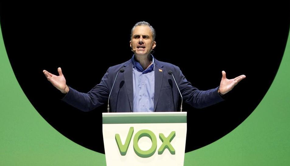 El secretari general de Vox, Javier Ortega Smith, en l'acte del seu partit a Madrid, el passat octubre.