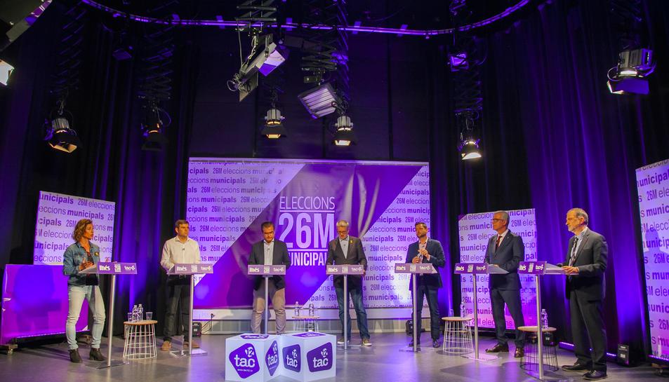 Els caps de llista dels partits presents a l'Ajuntament van exposar les seves propostes al plató de la televisió TAC12 i va absentar-se la candidata d'En Comú Podem per motius personals