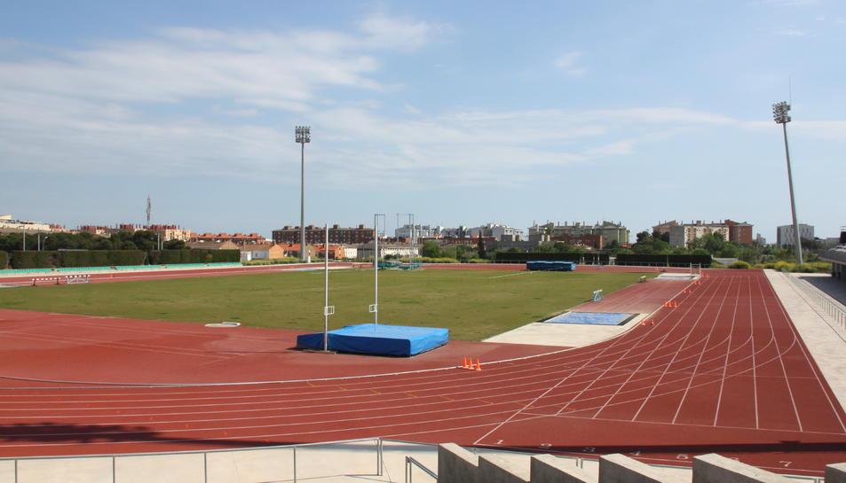Pla general de l'Estadi d'Atletisme de Campclar, que va ser reformat en motiu dels Jocs Mediterranis.