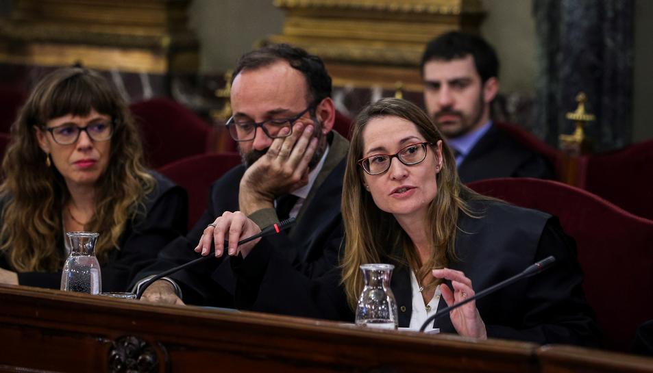 Marina Roig i Benet Salellas, advocats de Jordi Cuixart.