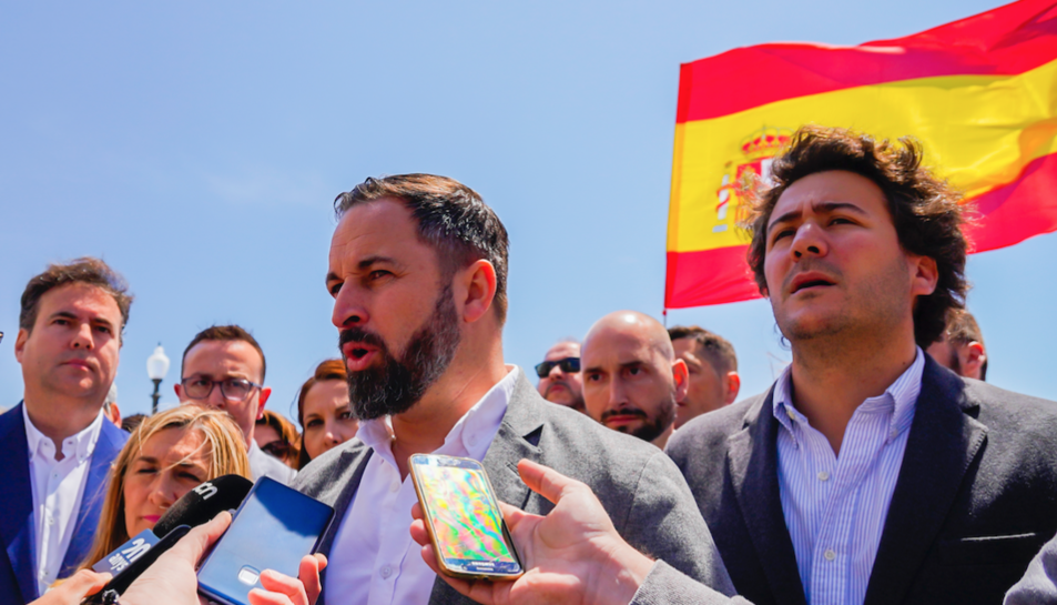 El president de Vox, Santiago Abascal, ha rebut al Balcó añs