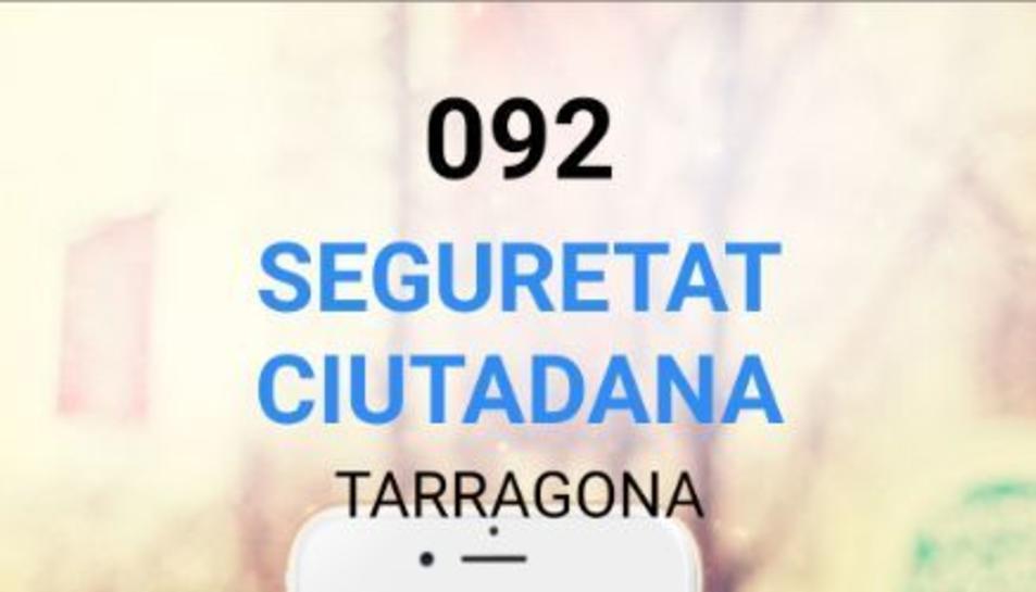 Pantalla d'accés a la nova aplicació de l'Ajuntament de Tarragona.
