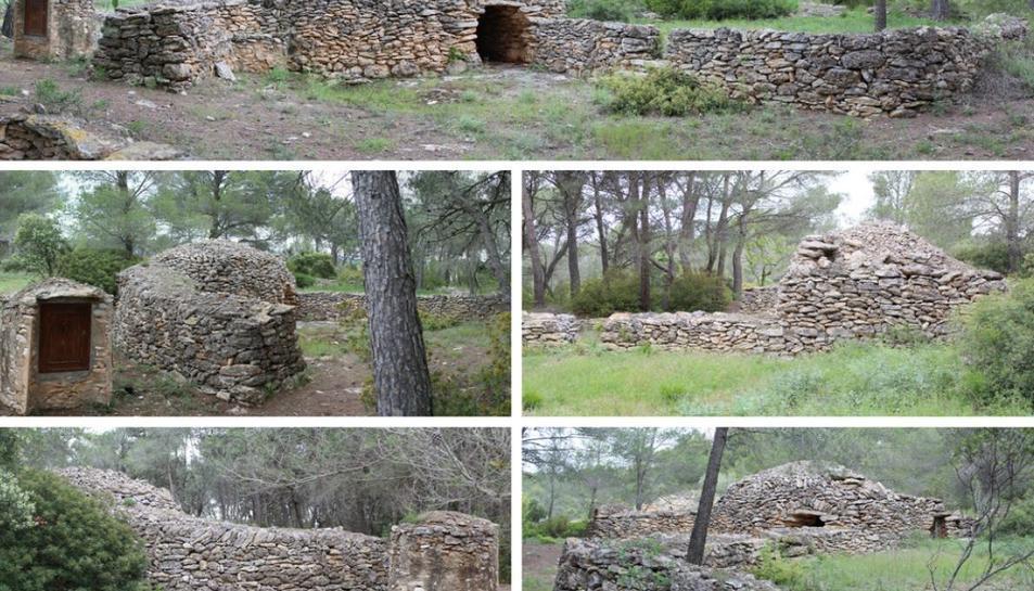 Algunes de les imatges que s'inclouen a la guia de les construccions de pedra seca del Pla de santa MAria.