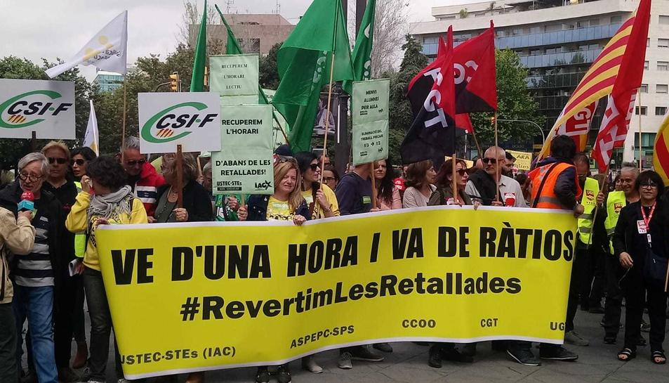 Imatge de la manifestació d'ensenyament a Tarragona.