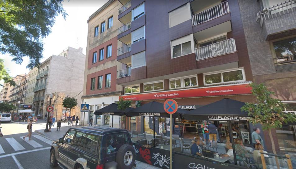 Imatge de l'edifici on han actuat el Bombers.