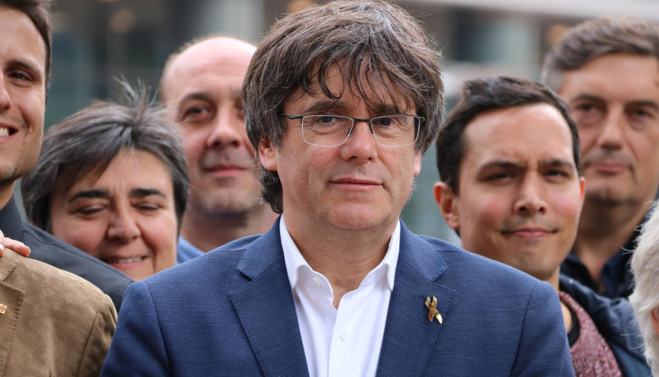 L'expresident Carles Puigdemont a Brussel·les.