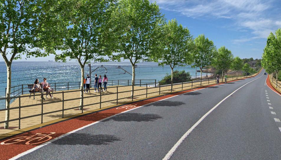 Imatge del projecte del Passeig dels Miradors de Llevant.