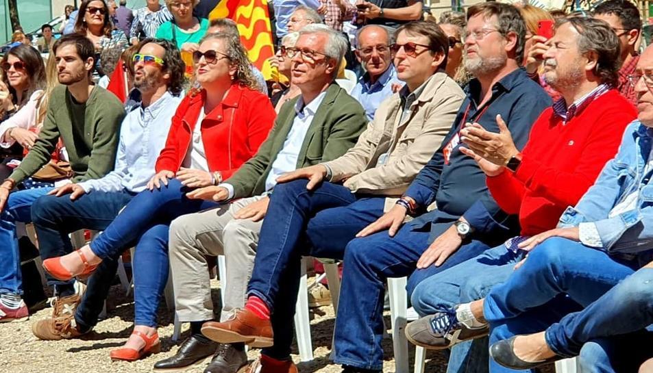 Imatge de l'acte central de campanya del PSC de Tarragona a Bonavista.