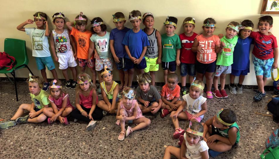 Imatge d'un grup d'infants que van participar al Casal d'Estiu 2018.