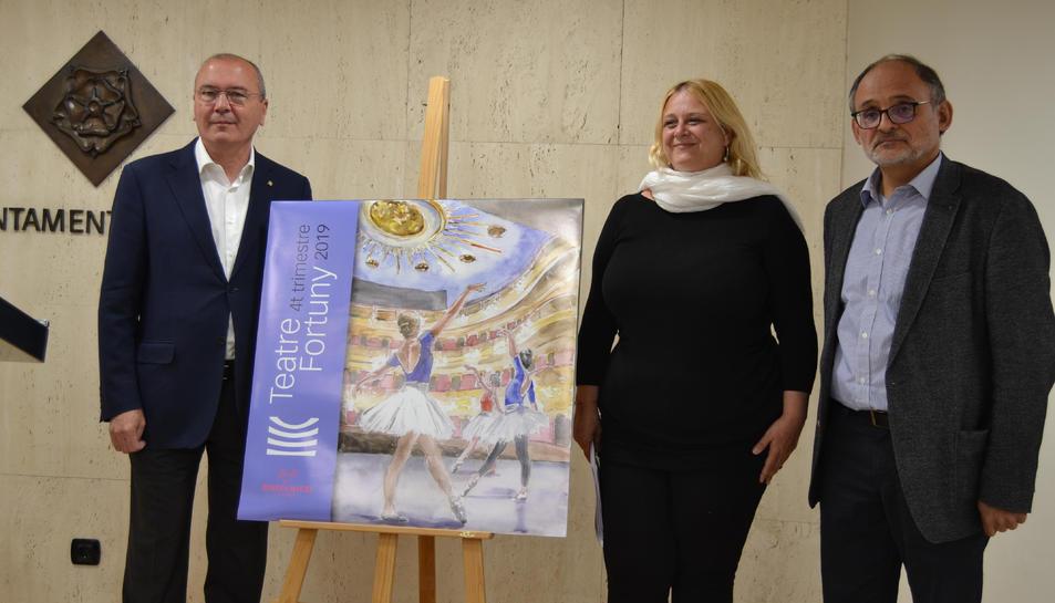 Carles Pellicer, alcalde de Reus, durant la presentació de la programació de tardor del Teatre Fortuny.