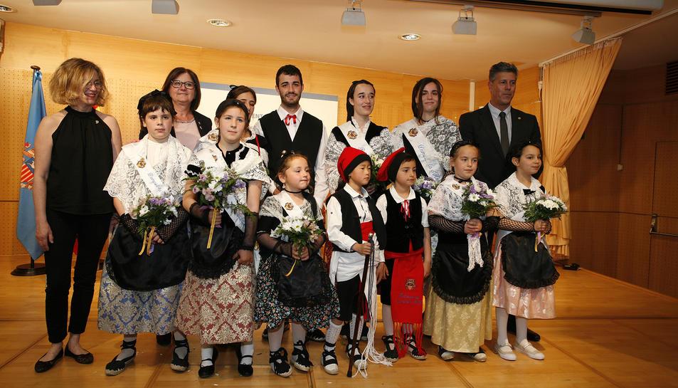 Foto dels petits que representaran el municipi en tots els actes i festes populars i tradicionals.