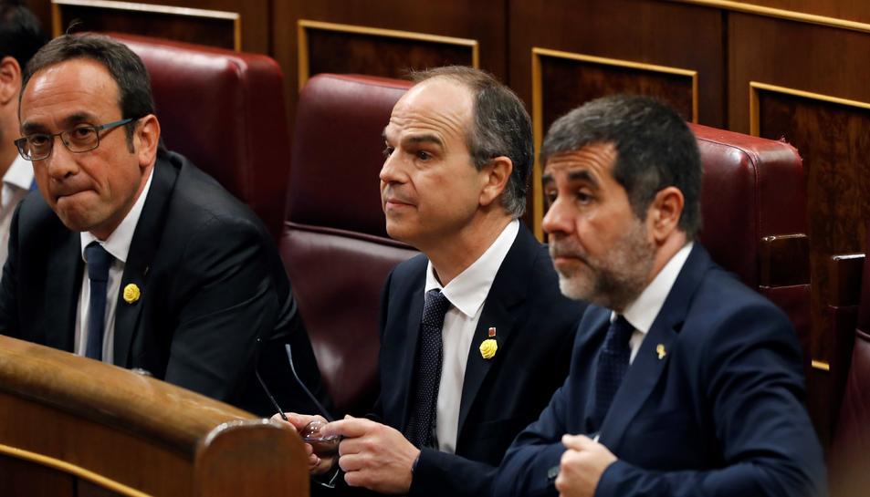 Rull, Turull i Sànchez, als escons del Congrés en la sessió constitutiva de la cambra.