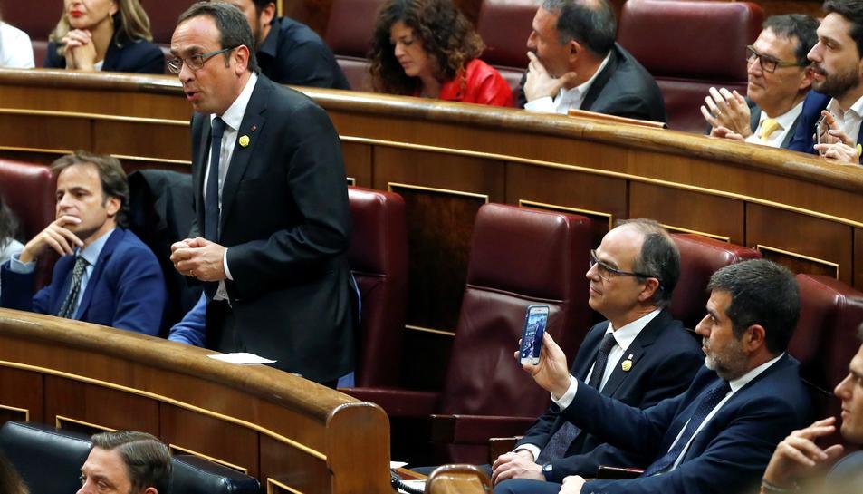 Josep Rull promet el càrrec al Congrés dels Diputats.