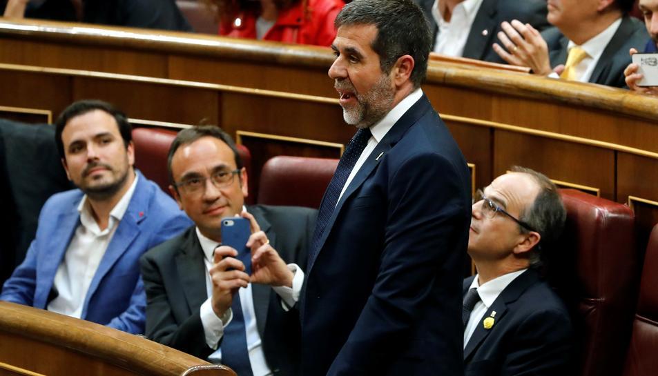 Jordi Sànchez promet el càrrec al Congrés dels Diputats.