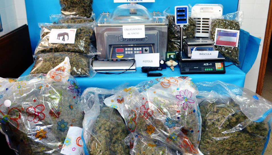 Part de la marihuana intervinguda