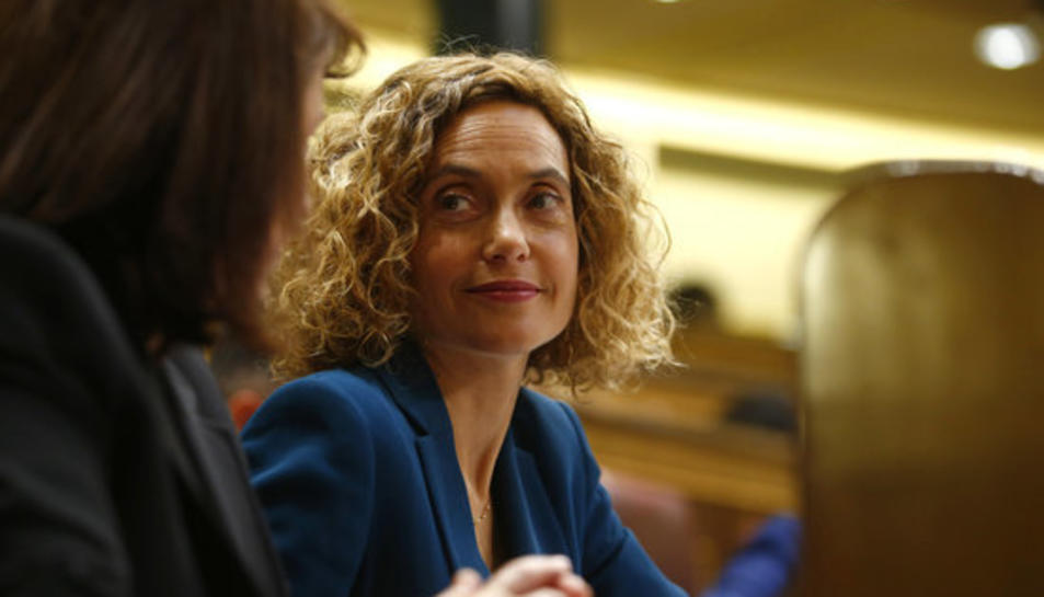 La diputada del PSOE Meritxell Batet, durant la votació al Congrés dels Diputats de la presidència de la cambra.