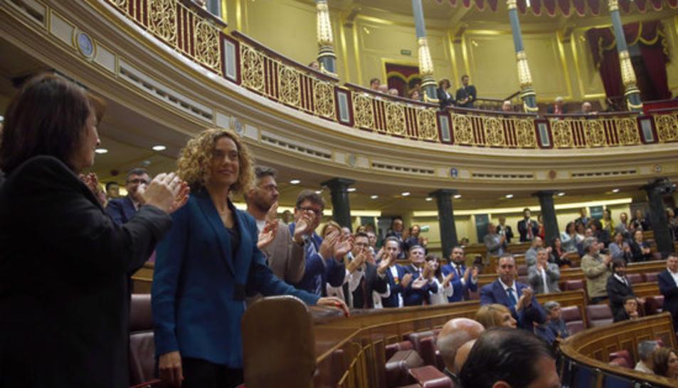 Meritxell Batet al Congrés dels Diputats, un cop elegida presidenta de la cambra.