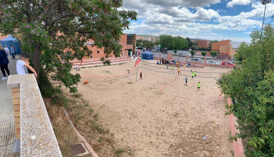 També es va instal·lar una zona dinamitzada per l'Associació Beach Tennis Catalunya.