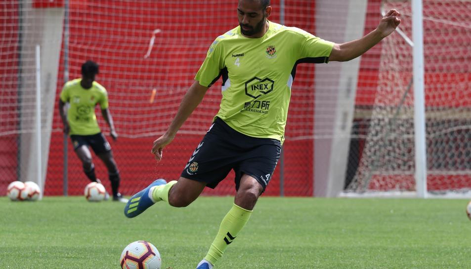Fali, durant un entrenament amb el Nàstic pocs dies abans de marxar al Cádiz en qualitat de cedit.