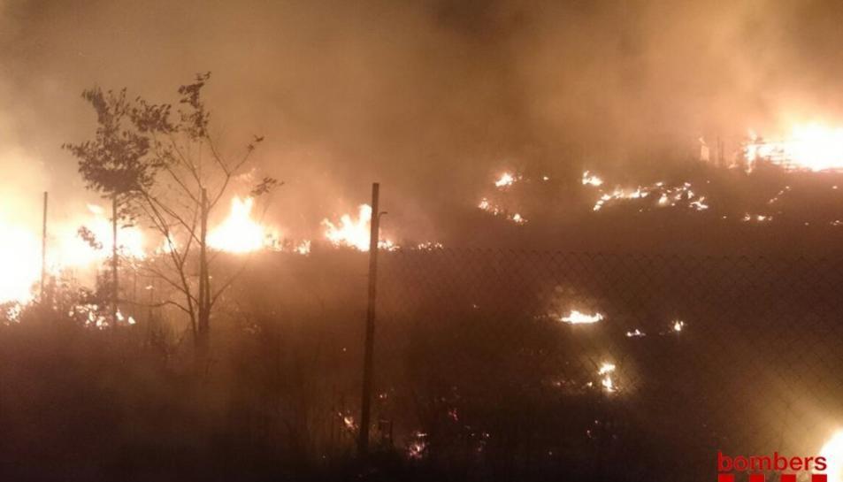 Imatge de l'incendi d'Alforja.