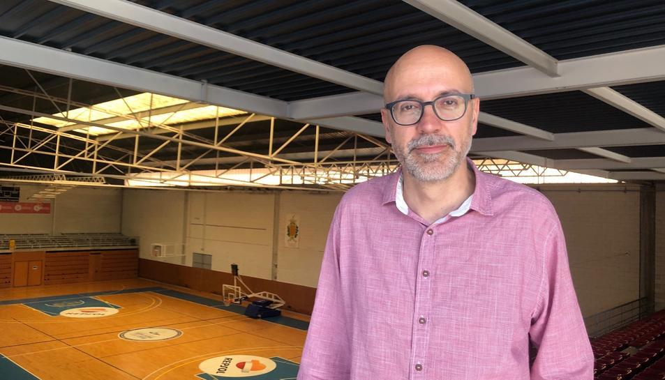 El Director General del CBT, Aleix Boada, a la pista tarragonina del Serrallo.
