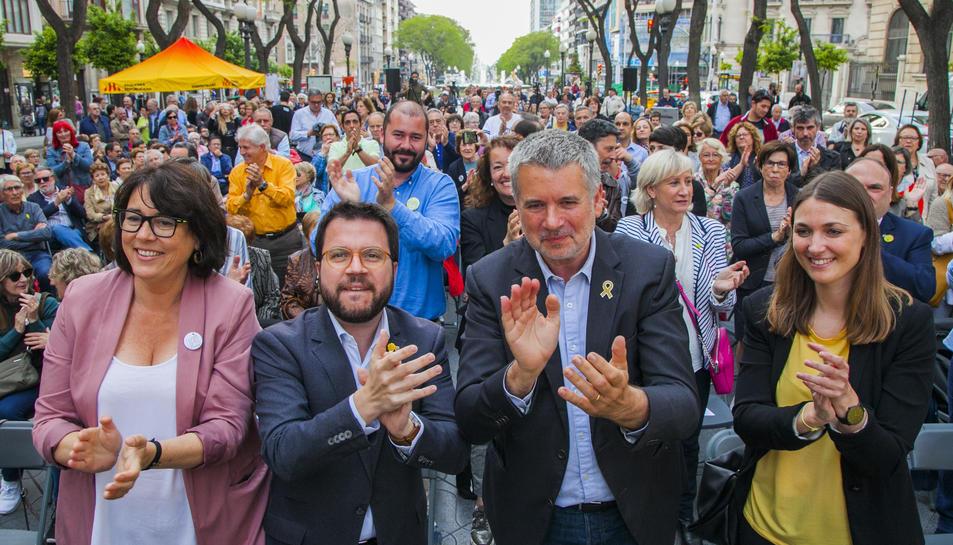 El vicepresident de la Generalitat, Pere Aragonès, va donar suport a la candidatura de Ricomà.