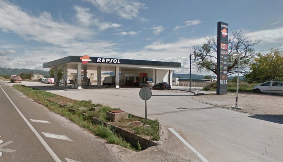 Imatge de la gasolinera del Pla Santa Maria.