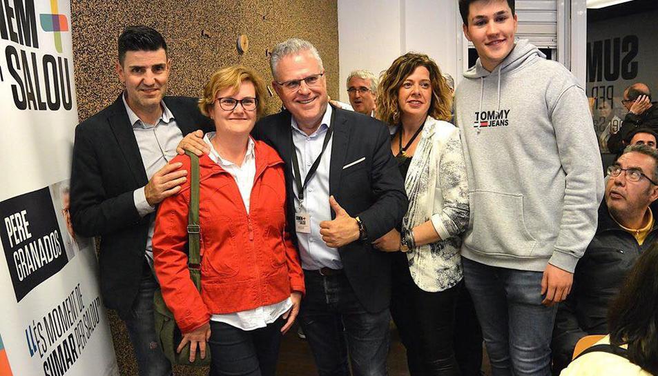Pere Granados durant la celebració dels resultats la nit electoral del passat 26 de maig a la seu del partit.