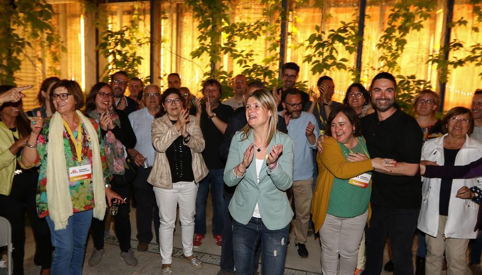 Cal Massó va convertir-se en una gran festa per celebrar els millors resultats que ha recollit ERC a Reus.