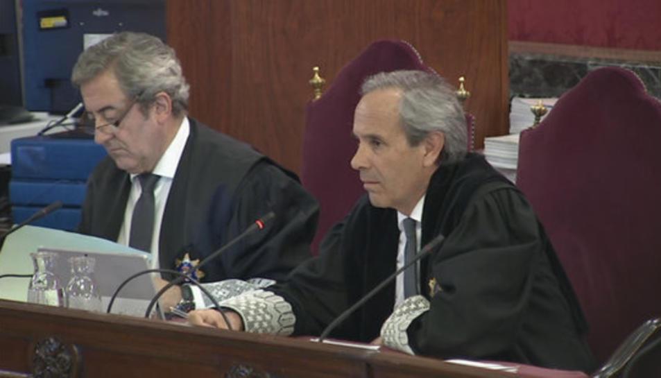 Imatge del fiscal Jaime Moreno durant un interrogatori en el judici de l'1-O al Suprem.