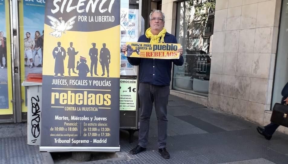 Lluís Pastrana a Madrid, on ha estat agredit diverses vegades.