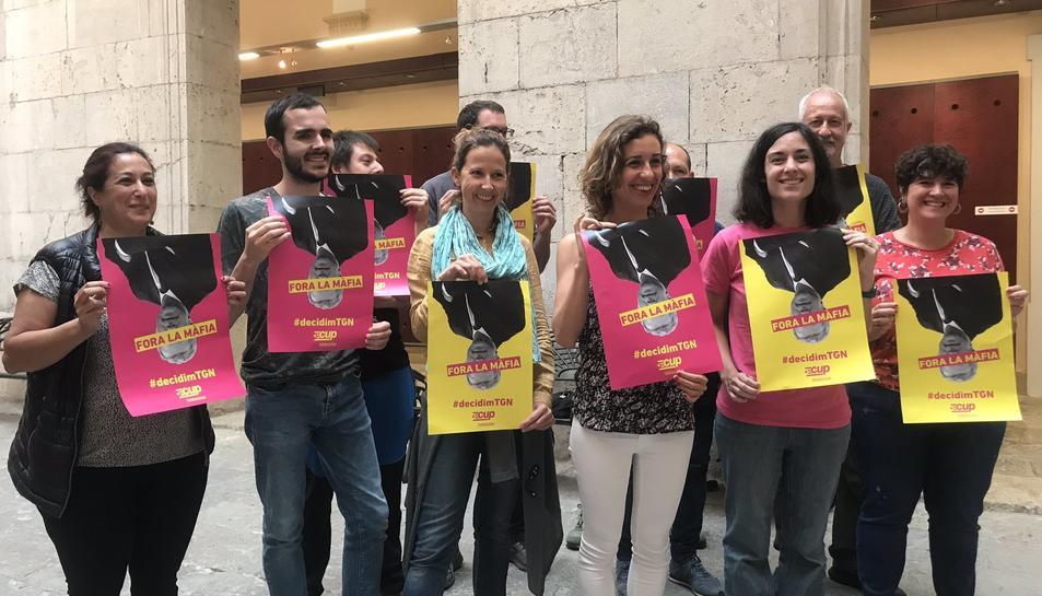 La CUP ha comparegut aquest dimecres per exposar la seva voluntat de facilitar l'alcaldia a Ricomà.