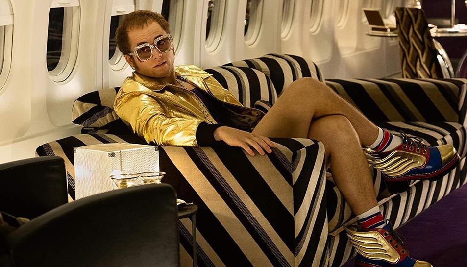 Taron Egerton, Elton John, al film 'Rocketman'.