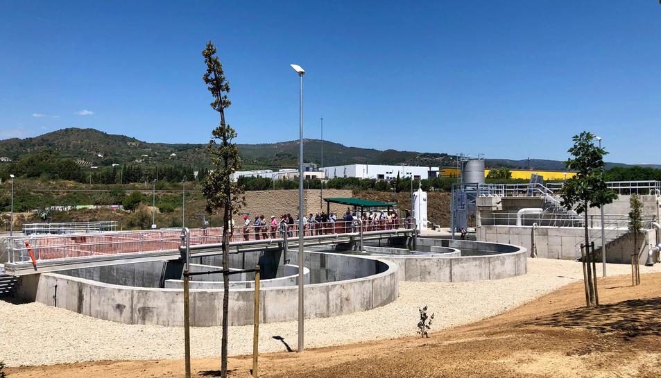 Imatge de la depuradora d'aigües residuals.