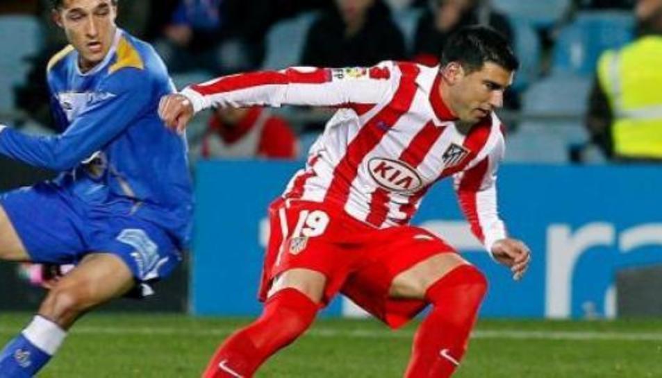 Reyes, amb la samarreta de l'Atletico de Madrid.