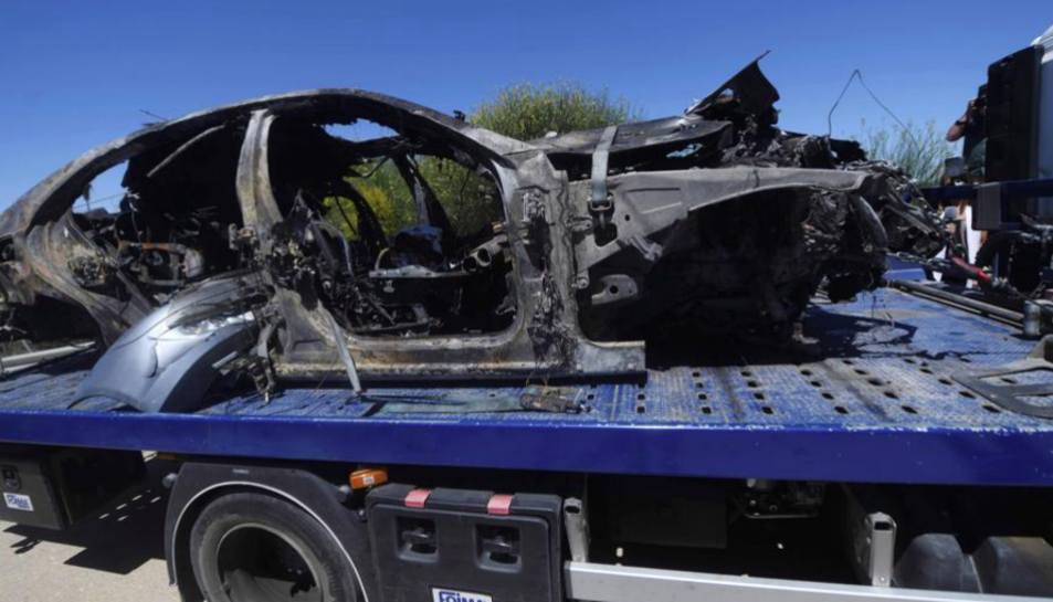 Imatge del vehicle en el qual circulava Reyes.