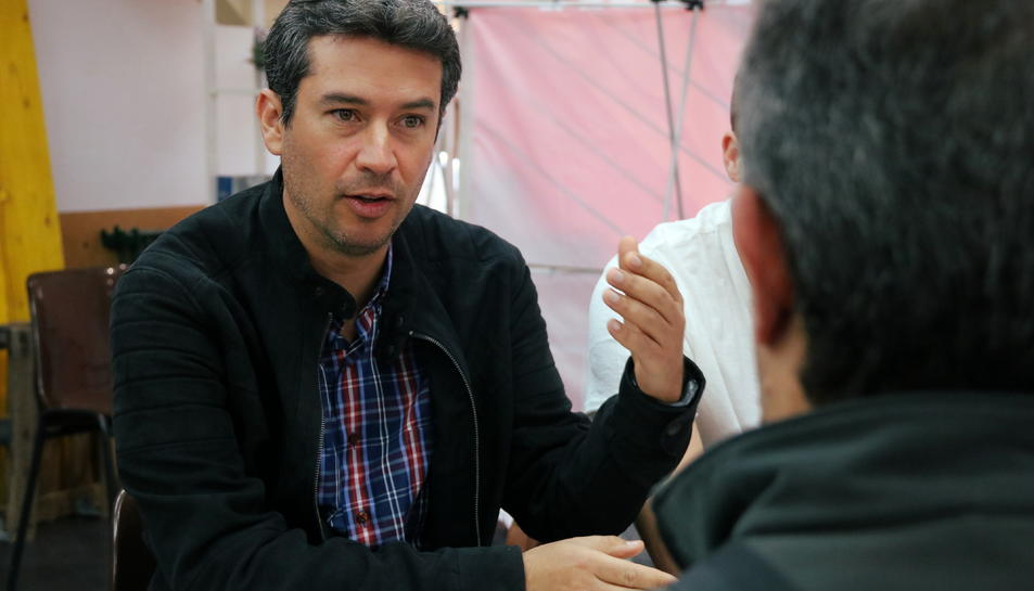 Kenneth Martínez, cap de llista dels socialistes al Vendrell el passat 26 de maig.