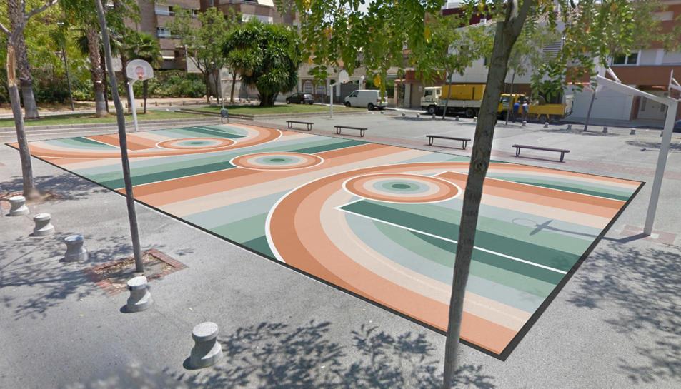 Una simulació de l'obra de Gerard Martín.