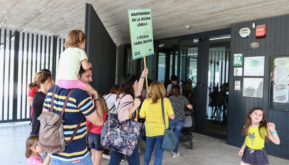 Protesta Escola Isabel Besora