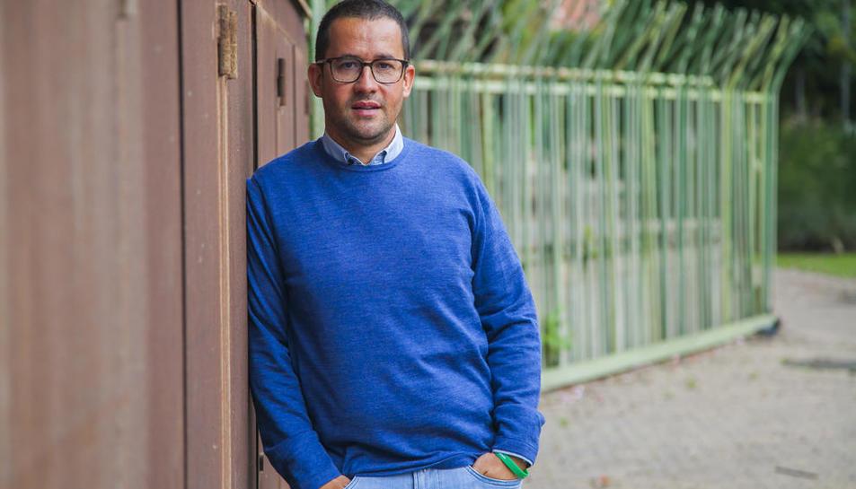 David Comamala, en una imatge durant una entrevista amb el Diari Més.