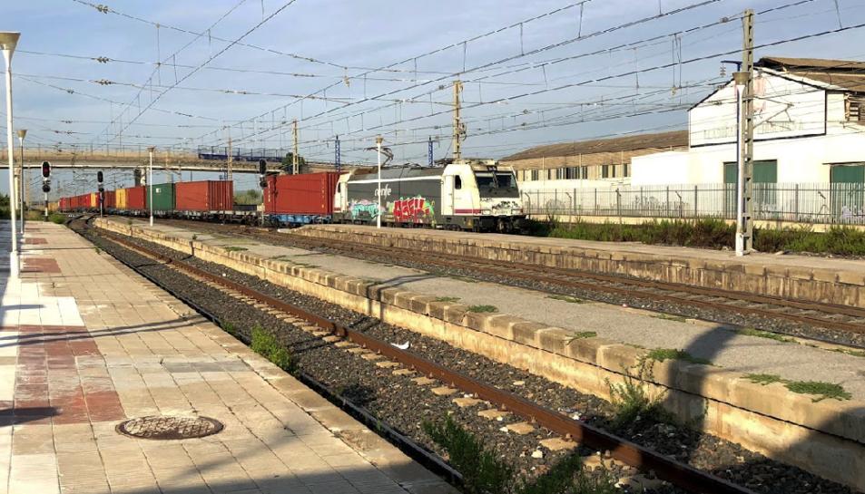 Imatge de l'estació de Renfe de l'Arboç.