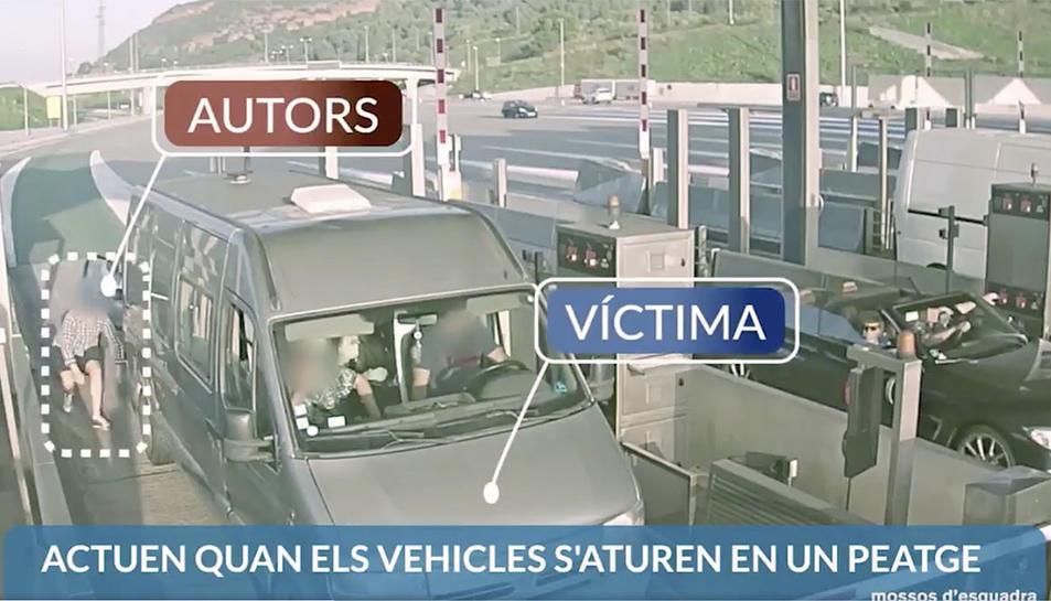 Captura d'imatge del vídeo que han fet circular els Mossos d'Esquadra.