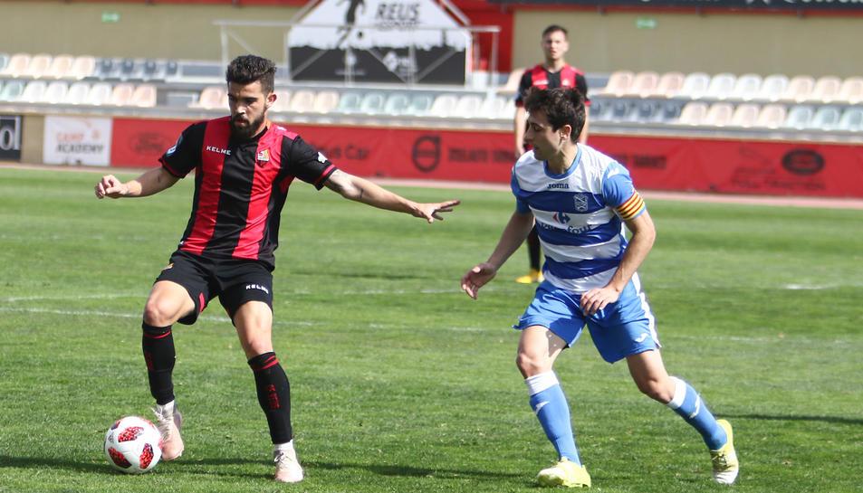Adri Arjona, durant un partit amb el Reus B aquesta temporada.