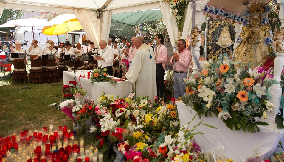 Imatge de la celebració del Rocío a la Pineda, corresponent a l'edició del 2017.