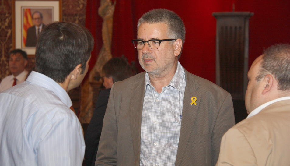 El candidat d'ERC a l'alcaldia de Tarragona, Pau Ricomà, abans del plenari extraordinari d'aquest dimarts, 11 de juny.