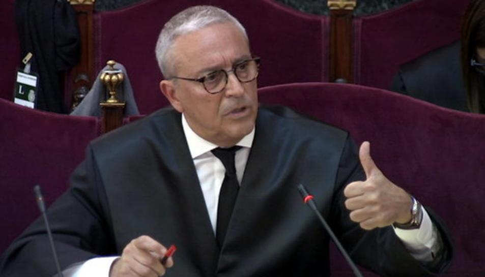 L'advocat de Joaquim Forn, Xavier Melero, durant el seu informe final al judici de l'1-O al Tribunal Suprem.