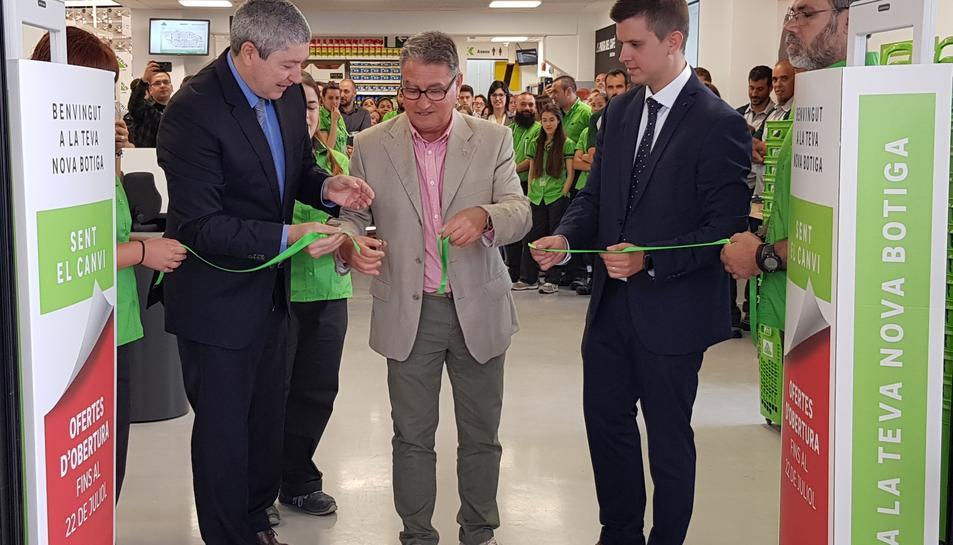 Imatge de la inauguració de la nova botiga de Leroy Merlín a Roda de Berà.
