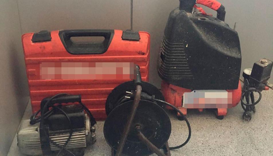 Imatge del compressor d'aire robat a l'Espluga.