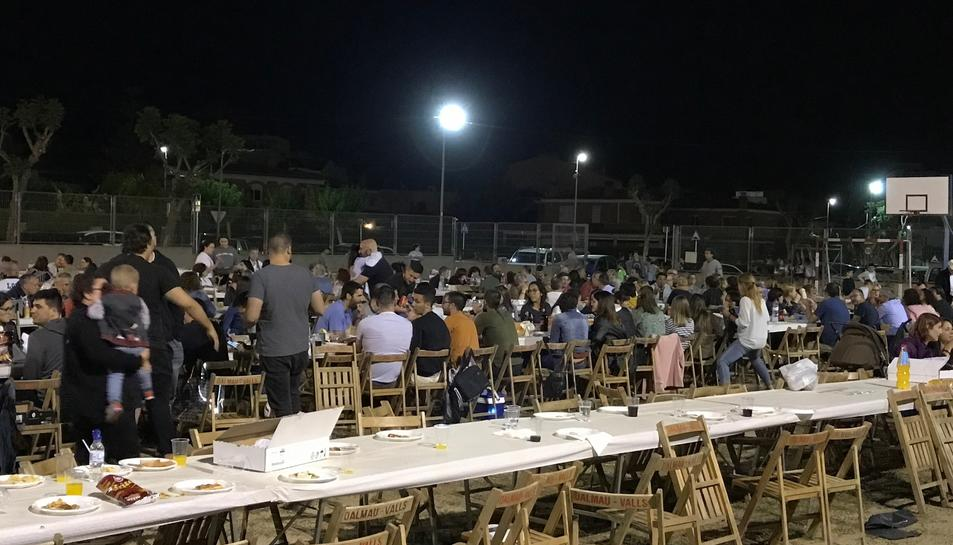 Unes 700 persones van gaudir d'un sopar de germanor.