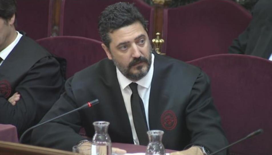 L'advocat de Dolors Bassa, Mariano Bergés, durant l'informe final al Tribunal Suprem.